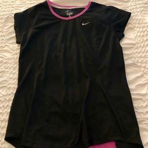 Pink & black Nike shirt. Size medium.